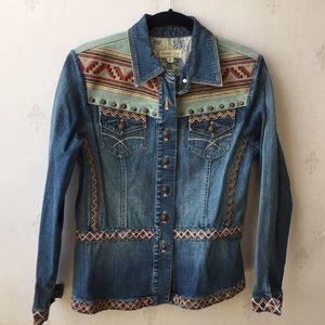 Coldwater Creek Western Style Denim Jacket Size M